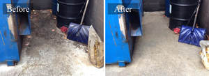 Commercial Dumpster Pad Pressure Cleaning #1