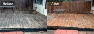 Deck and Fence Pressure washing