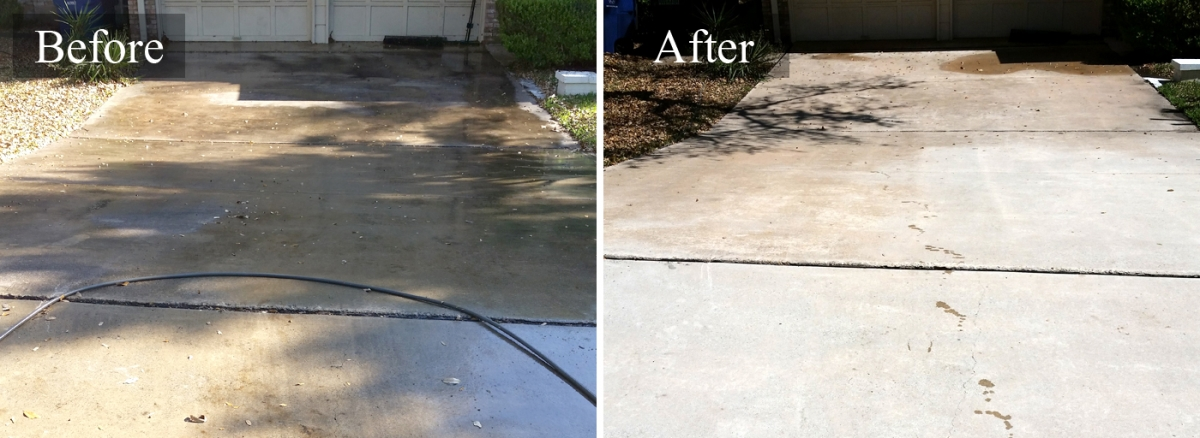 Concrete cleaner concrete pressure cleaning in san antonio for Concrete pressure washer